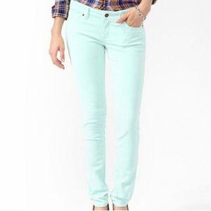 Mint Green Corduroy Pants